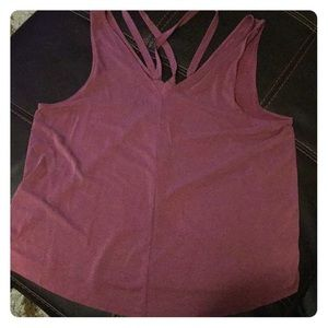 Dusty rose tank top with detail